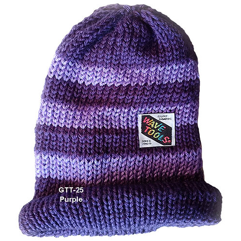 PURPLE COLOR - Hand Knitted Beanie Hat for Men and Woman #25