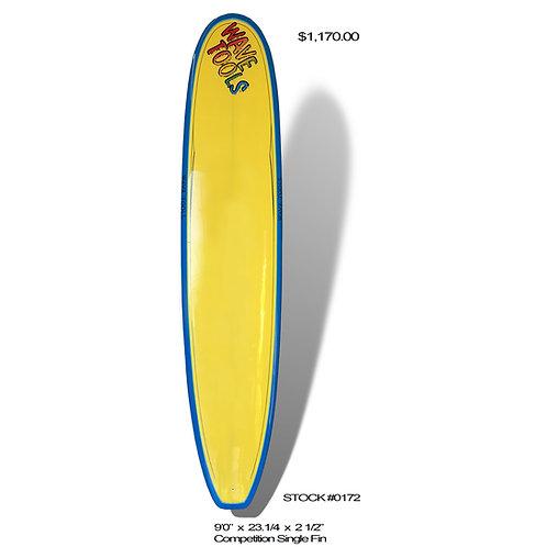 Wave Tools Longboard, Comp Model Twin Fin