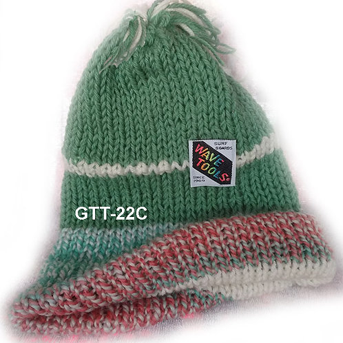 REVERSIBLE - Hand Knitted Beanie Hat for Men and Woman #22C