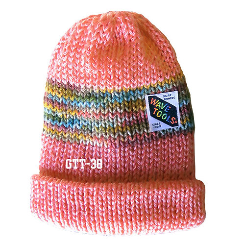 PEACH COLOR - Hand Knitted Beanie Hat for Men and Women #38