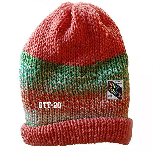 SALMON COLOR - Hand Knitted Beanie Hat for Men and Woman #19