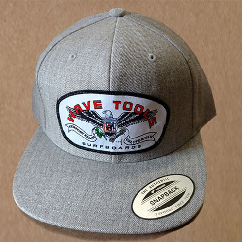 Gray Cotton Twill Hat Eagle