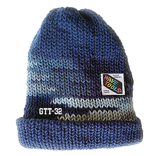 BLUE COLOR - Hand Knitted Beanie Hat for Men and Women #32