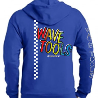 WAVE TOOLS Vert-Check RAINBOW Zip HOOD Sweat Shirt