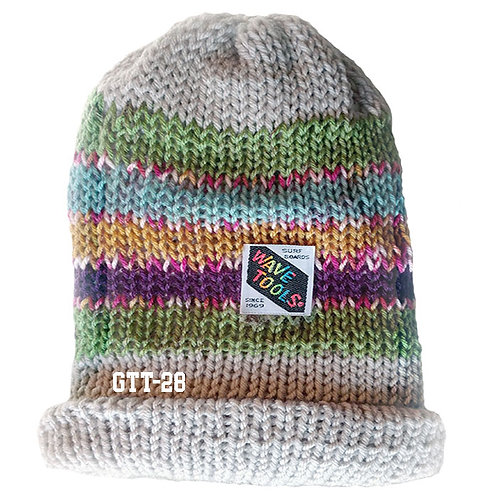 TAN COLOR - Hand Knitted Beanie Hat for Men and Woman #28