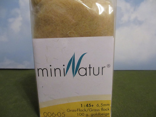 6 MM Gold Beige Static Grass 100 grams 006-05