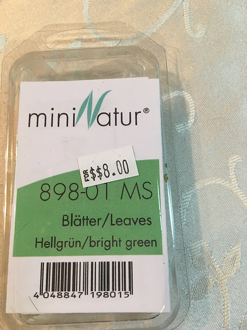 mini Natur bright green leaves 898-01