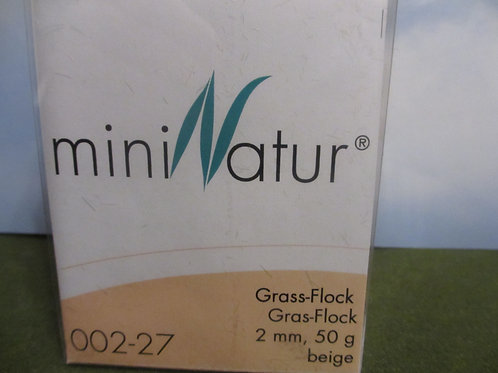 2 MM Beige Static Grass 50 grams 002-27