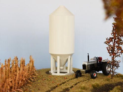 Tall White Feed Bin