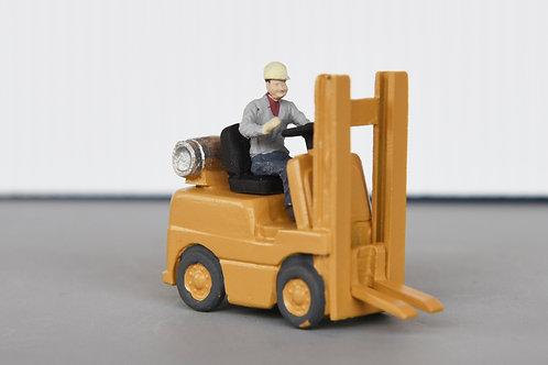 Forklift w/ man