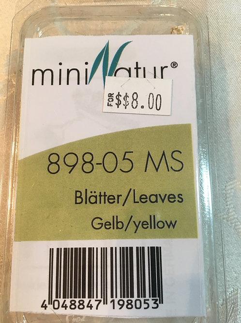 mini Natur yellow leaves 898-05