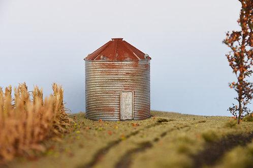 Weathered Grain Bin Door Closed
