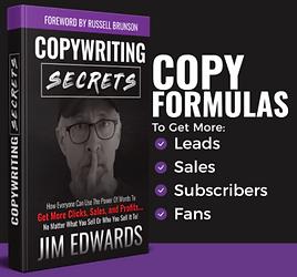 Copywriting Secrets Book by Jim Edwards, Copy Formula .