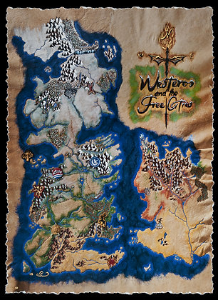 LIMITED EDITION Game of Thrones - Winter Map of Westero