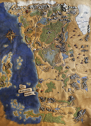 Sword Coast Map - Giclée Reproduction