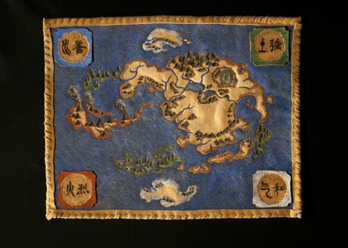 Avatar: Last Airbender Map - ORIGINAL