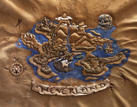 Neverland Map Giclée Reproduction