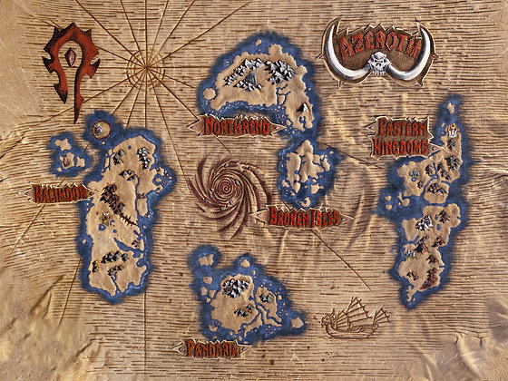 World of Warcraft: Azeroth Map Giclée Reproduction