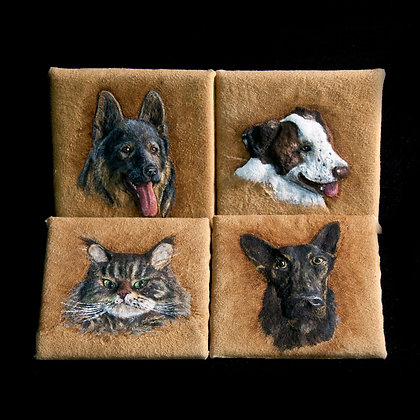Pet Portrait - Handmade leather originals
