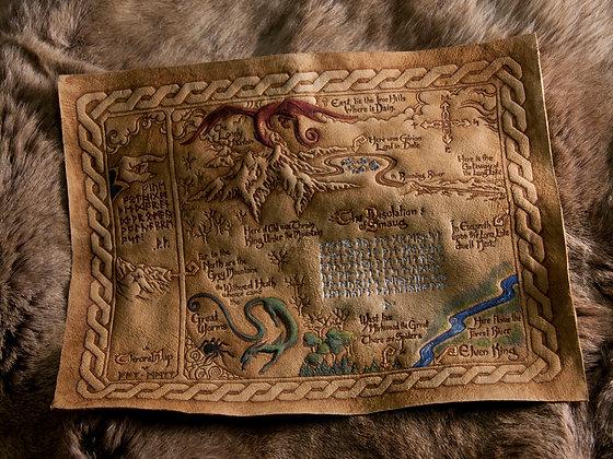 The Hobbit - Leather Thror's Map - ORIGINAL