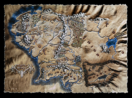 LIMITED EDITION Lord of the Rings - Map of Middle Earth Winter