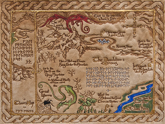 The Hobbit - Thror's Map - Giclée Reproduction