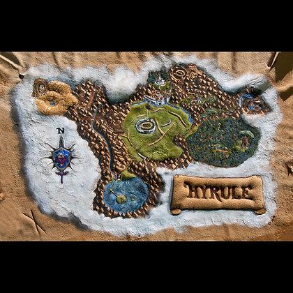 Zelda - Ocarina of Time Hyrule map- Giclée Reproduction