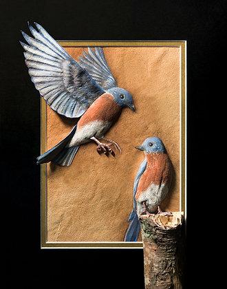 Bluebirds - Giclée Reproduction