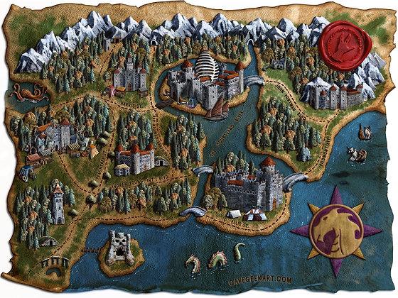 Dragon Con Fantasy Map - Giclée Reproduction