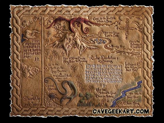 The Hobbit - Thror's Map - Giclée Reproduction