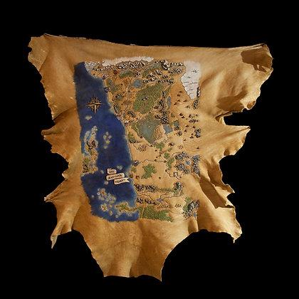 D&D - Leather Map of The Sword Coast- ORIGINAL