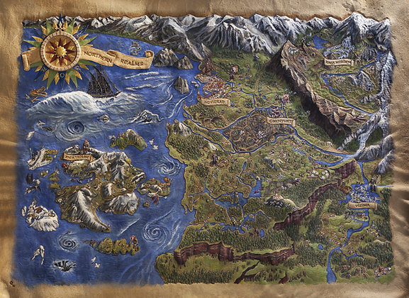 Witcher 3 Map - Giclée Reproduction