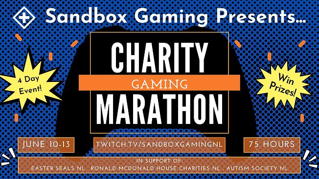 Sandbox Gaming June 2021 Charity Maratho