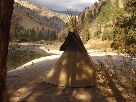 Living in a Tipi