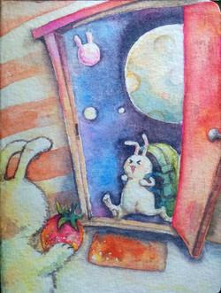 bunny door