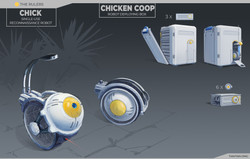 chicken and cage week10 renderED