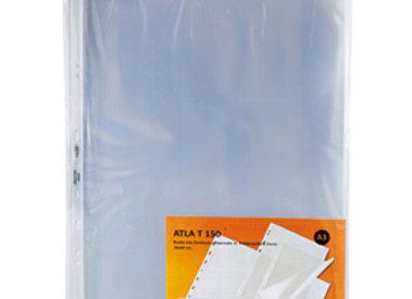 Buste forate atla t - pesante - liscio - 30x42 cm (libro) - trasparente - sei ro