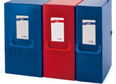 Scatola Archivio big 120 250x350mm blu con maniglia sei rota
