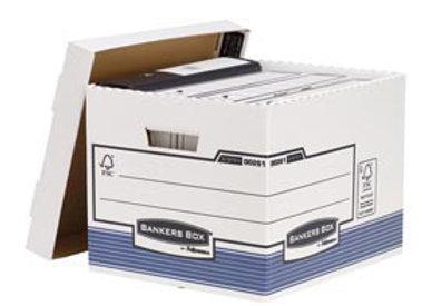 Scatola archivio bankers box system - con coperchio - 33,3x28,5x38 CF.10 PZ.