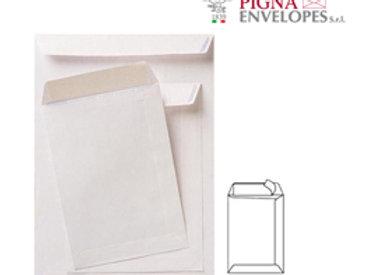 Busta a sacco bianca - serie competitor - strip adesivo - 230x330 mm - 80 gr - p