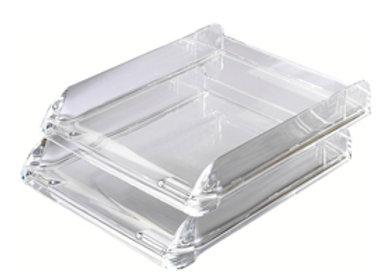 Vaschetta Portacorrispondenza nimbus trasparente cristallo rexel