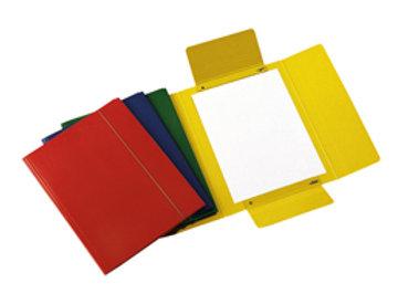 Cartellina con elastico - presspan - 3 lembi - 700 gr - 25x34 cm - blu - cartote
