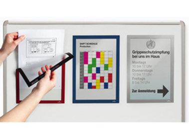 Cornice magnetica duraframe - a4 - 21x29,7cm - nero - durable