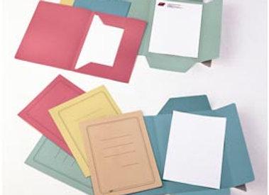 Cartelline 3 lembi - con stampa - cartoncino manilla 200 gr - 25x33 cm - azzurro