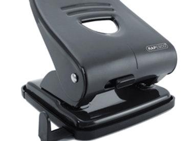 Perforatore 827 - metallo - massimo 30 fogli - 2 fori - passo 8 cm - nero - rape