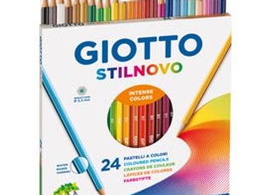 Pastelli colorati stilnovo - lunghezza 18cm e mina 3,3mm - giotto - astuccio 24
