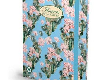Cartella progetti nature flowers - 26x34cm - dorso 3cm - con elastico - pigna