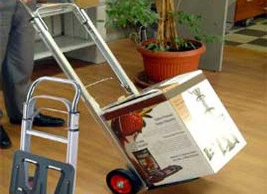 Carrello portatutto in alluminio pieghevole c/ruote portata max 90kg