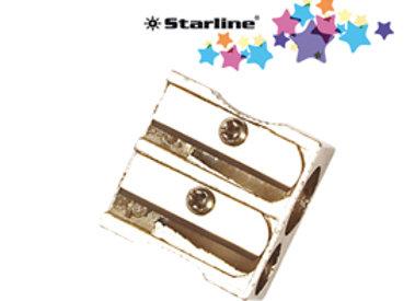Temperamatite senza contenitore - 2 foro - in metallo - starline
