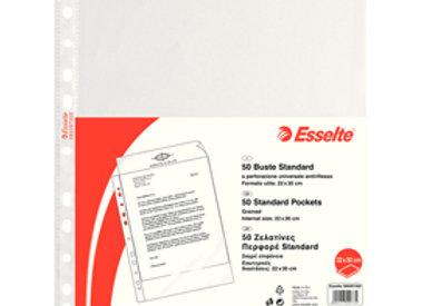 Buste forate copysafe - standard - buccia - 22x30 cm - trasparente - esselte - c